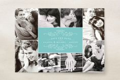 Classic Collage Save the Date Cards