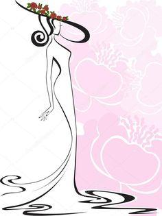 Скачать - Женщина в шляпе на розовом фоне — стоковая иллюстрация #24392931