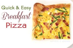 Quick and Easy Breakfast Pizza... This looks so good and a little different from the ordinary breakfast!
