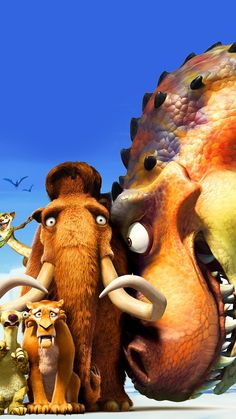 Ice Age: Dawn of the Dinosaurs Phone Wallpaper Cute Disney Wallpaper, Wallpaper Iphone Cute, Wallpaper Ideas, Marvel Wallpaper, Cartoon Wallpaper, Movie Wallpapers, Cute Wallpapers, Ice Age Movies, Online Photo Gallery