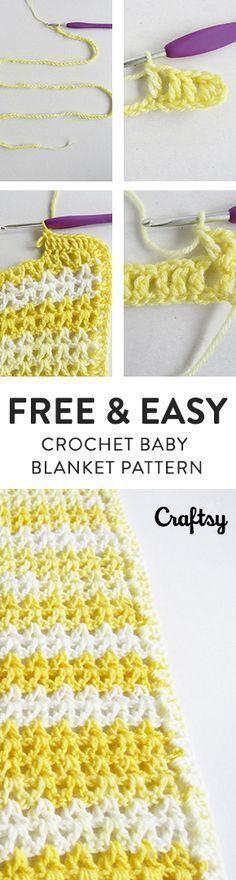 37 best etsy crochet \u0026 knitting images in 2017 etsy crafts, armfree, fast \u0026 easy crochet baby blanket pattern for beginners