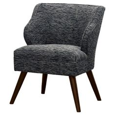 There are no words outdated for vintage theme especially if they have upholstered accent chair. When people see this chair, Bedroom Chair, Sofa Chair, Natural Wood Coffee Table, Winged Armchair, Modern Recliner, Upholstered Accent Chairs, House Design Photos, Mid Century Modern Decor, Furniture Legs