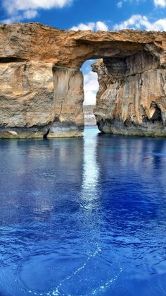 The Azure window is a limestone natural arch on the Maltese island of Gozo. It is situated near Dwejra Bay on the Inland Sea, Malta. Places Around The World, Oh The Places You'll Go, Places To Travel, Places To Visit, Around The Worlds, Beautiful World, Beautiful Places, Amazing Nature, Belle Photo