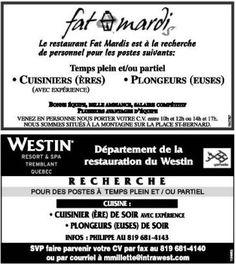 Emplois resto + Hôtel