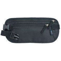 7a11377a398f Alpsy Travel Wallet Under-Clothes Money Belt Waist Bag Secure Hidden Pouch  Black
