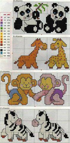 Baby Cross Stitch Patterns, Cross Stitch For Kids, Small Cross Stitch, Beaded Cross Stitch, Cross Stitch Baby, Cross Stitch Animals, Cross Stitch Charts, Cross Stitch Designs, Cross Stitch Embroidery