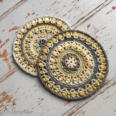 Flower Wheel Circle - a free crochet pattern by Saraphir