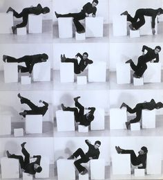 Bruce McLean. Pose Work for Plinths 3, 1971. Photographs on board, 750 x 682mm. Tate Collection © Bruce McLean