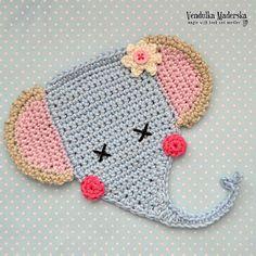 Crochet pattern - elephant applique - by VendulkaM crochet, digital pattern DIY, pfd