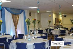 EXQUISITE EVENTS AND CHAIR COVER HIRE: 60cm Lily Vase Table Centrepiece