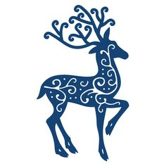 TATTERED LACE DIES - REINDEER  Tattered Lace Dies are designed to work with a compatable die cutting machine. Reindeer is a Christmas topper that gives you the perfect finishing touch for all your festive projects.