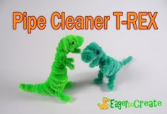 Making a Pipe Cleaner  Dinosaur - TRex
