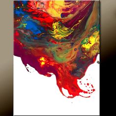 Falling Stars - NEW Abstract Modern Art Painting  Original Contemporary by wostudios, $69.00