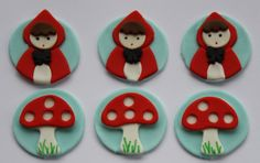 Little Red Riding Hood Fondant Cupcake by Clementinescupcakes, $18.95