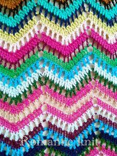 Crochet ripple/chevron variatiom blanket.  Очаквайте скоро разноцветни и радостни предложения за циганското лято:)