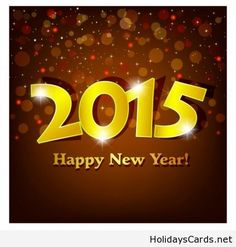 Glowing happy new year 2015 image