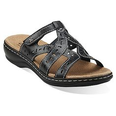 cbe8db9e61608a Leisa Truffle in Navy Leather - Womens Sandals from Clarks