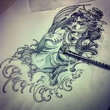 neo traditional Gypsy Drawing, Tattoo Designs, Tattoo Ideas, Neo Traditional Tattoo, Body Art, Beast, Geek Stuff, Sketches, Black And White