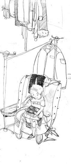 세탁소의 소년 The boy in the laundry, sketch