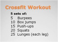 want to try crossfit? here's a crossfit workout you can do anywhere Wods Crossfit, Crossfit At Home, Gym Workouts, At Home Workouts, Workout Exercises, Beginner Crossfit Workouts, Workout Ideas, Cross Fit Workouts, Full Body Workouts
