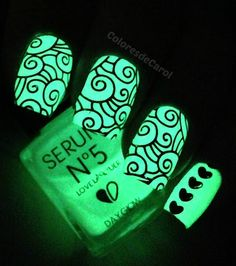 Glow in the dark polish w/stamping designs. I WANT THIS!!!!
