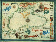 Tagged with maps, black sea, century, old maps; Medieval map of the Black Sea / by Diego Homen World History Facts, World History Lessons, Vintage Maps, Antique Maps, All World Map, Map Fabric, Country Maps, Map Globe, Treasure Maps