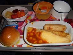 Airplane Food Meal Gross