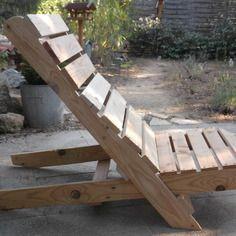 Bain de soleil en bois de palettes recyclé : Meubles et rangements ...