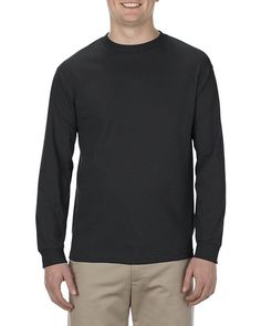 Charcoal - 1904ALS Alstyle Heavyweight Adult Long Sleeve Tee