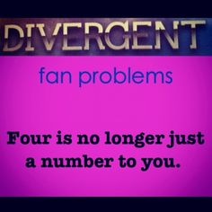 Since when was Four a number? ;)