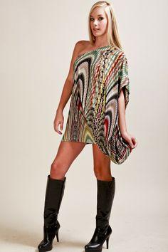 Tbags Los Angeles One Shoulder Mini Dress  www.shopvoce.com