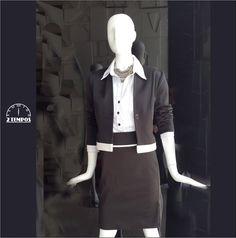 Para mais um dia de trabalho, escolhemos um look discreto, porém bem elegante.