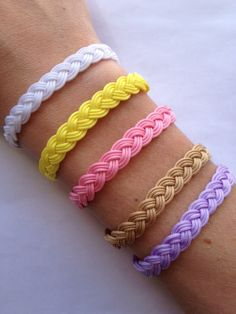 9 string braided & colorful bracelet with silver by IzouBijoux, €12.00
