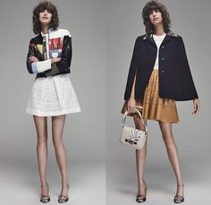 Fendi 2016 Resort Cruise Pre-Spring Womens Lookbook Presentation Designer Karl Lagerfeld - Bird of Paradise Flowers Florals Botanical Print Motif Denim Jeans Skirt Frock Outerwear Coat Jacket Parka Peacoat Sash Waist Shirtdress Tweed Wide Leg Trousers Palazzo Pants Knit Sweater Embellishments Bedazzled Leather Quilted Furry Cutout Hem Stripes Shorts Maxi Dress Mesh Laser Cut Hanging Sleeve Pajamas Loungewear Waistcoat
