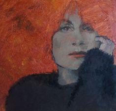 Burning Memories - portrait of woman with red hair, Tessa Thonett