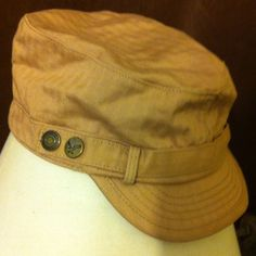 Messenger Hat Casual cute hat. Has 2 buttons on each side as decoration. Size tag says one size but measurement shown in 2nd picture. NWOT. American Eagle Outfitters Accessories Hats