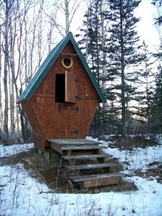 outhouse - unusual design