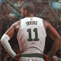 Kyrie Irving looking good in Celtics❤️ with his new number 11 ❤️ this season gonna be interesting or what ?!?!