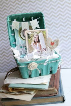 Altered Strawberry Baskets by Shelley Haganman