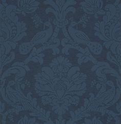 Обои синего оттенка с узором 357034 Eijffinger 357034– купить по доступной цене в интернет-магазине Ампир Декор