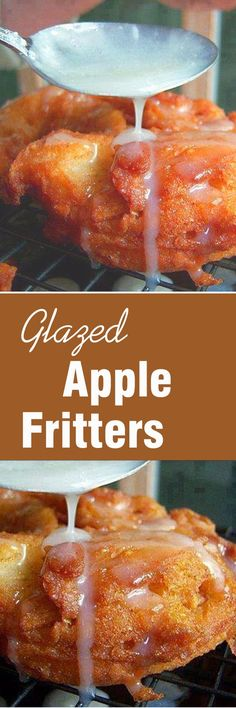Dec I did not make the apple fritters my girlfriend did, I did eat them though, we forgot to do a count so I can't tell you how many were made, someth Apple Fritter Recipes, Donut Recipes, Fruit Recipes, Apple Recipes, Dessert Recipes, Cooking Recipes, Churros, Apple Glaze, Fruit Dips