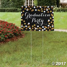 Get your graduation party started right with this yard sign! Announce to your guests just where you're honoring your special student when you add this ...