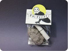 DIY owl pellets...I would leave off the powder, but mix in a bit of dryer lint to make it more fur-like.
