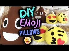 DIY Emoji Pillow   Valentines Day Gift - YouTube