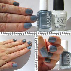 ombre nails  essie fair game  o.p.i. alpine snow