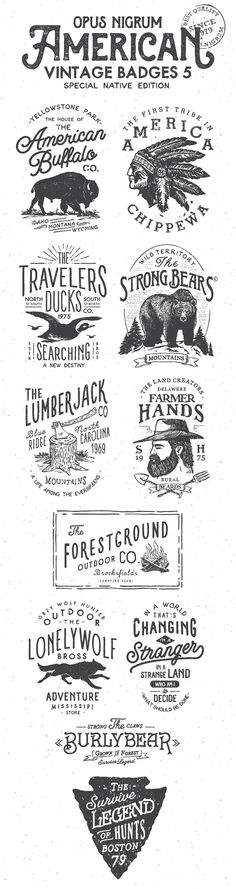 American Vintage Badges 5 on Behance