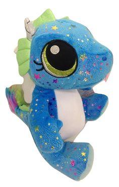 Fiesta Toys Blue Comet Sparkle Sitting Dragon Plush Stuffed Animal Toy