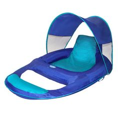 My personal float!! Swimways Spring Float Recliner With Canopy Item #13022  sc 1 st  Pinterest & Spring Float Shade Recliner: Sit up in style while keeping cool on ... islam-shia.org
