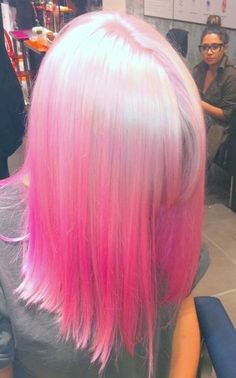 Pink reverse ombre