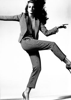 A houndstooth suit.